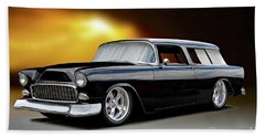 1955 Chevrolet Nomad Wagon Beach Towel