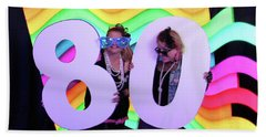 80's Dance Party At Sterling Event Center Beach Towel