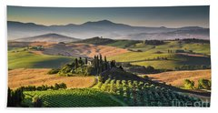 A Morning In Tuscany Beach Sheet by JR Photography