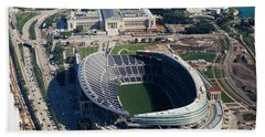 Aerial View Of A Stadium, Soldier Beach Towel