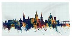 Beach Sheet featuring the digital art Annapolis Maryland Skyline by Michael Tompsett