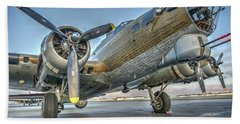 B17 Flying Fortress On The Ramp At Livermore Beach Towel