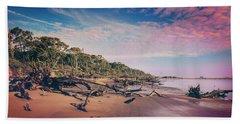 Beach Towel featuring the photograph Black Rock Beach by Peter Lakomy