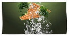 Carrot Splash Beach Towel