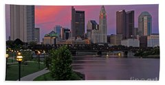 D2l37 Columbus Ohio Skyline Photo Beach Sheet