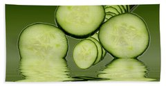 Cool As A Cucumber Slices Beach Towel by David French