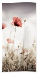Corn Poppy Flowers Beach Towel