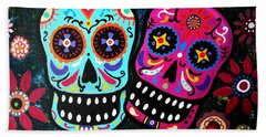 Couple Day Of The Dead Beach Sheet