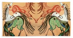 Dancing Musical Horses Beach Sheet by Scott D Van Osdol