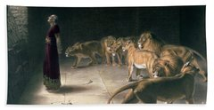 Daniel In The Lions Den Beach Towel