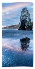 Dinosaur Rock Beach In Iceland Beach Towel