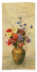 Flowers In A Vase Beach Towel
