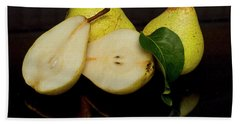 Fresh Pears Fruit Beach Towel by David French