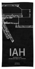 George Bush Intercontinental Airport In Houston Usa Runway Silho Beach Towel