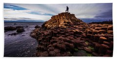Man Atop Giant's Causeway Beach Sheet
