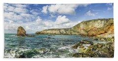 Gwenfaens Pillar Beach Towel by Ian Mitchell