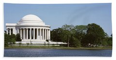Jefferson Memorial, Washington Dc Beach Towel by Panoramic Images