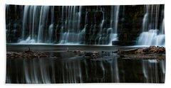 Kansas Waterfall Beach Sheet by Jay Stockhaus
