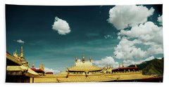 Lhasa Jokhang Temple Fragment Tibet Artmif.lv Beach Towel