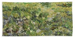 Long Grass With Butterflies Beach Sheet