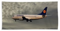 Lufthansa Boeing 737-300 Beach Towel