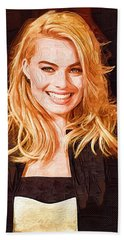 Margot Robbie Painting Beach Towel by Best Actors