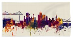 Middlesbrough England Skyline Beach Towel