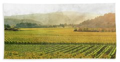 Napa Valley California In Autumn Beach Sheet