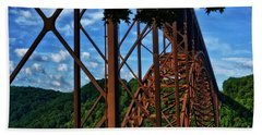 New River Gorge Bridge Beach Towel