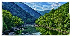 New River Gorge National River Beach Towel