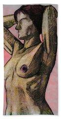 Nude Woman Beach Towel