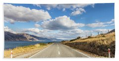 On  The Road In New Zealand Beach Towel
