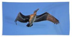 Beach Sheet featuring the photograph 4- Pelican by Joseph Keane