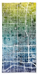 Phoenix Arizona City Map Beach Towel