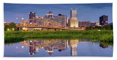 Beach Towel featuring the photograph Pittsburgh North Shore  by Emmanuel Panagiotakis