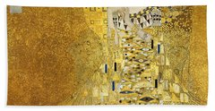 Portrait Of Adele Bloch-bauer I Beach Sheet by Gustav Klimt