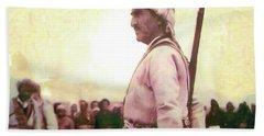 Portrait Of Melle Mutafa Barzani Beach Sheet