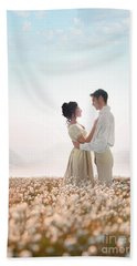 Regency Couple Beach Sheet by Lee Avison
