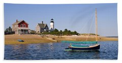 Sandy Neck Lighthouse Beach Sheet by Charles Harden