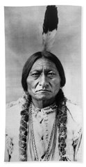 Sitting Bull 1834-1890. To License For Professional Use Visit Granger.com Beach Towel
