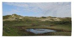 Small Lake In The Noordhollandse Duinreservaat Beach Towel
