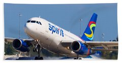 Spirit Airline Beach Towel