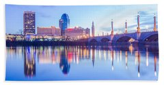 Springfield Massachusetts City Skyline Early Morning Beach Sheet