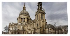 St Pauls Cathedral Beach Sheet by Shirley Mitchell