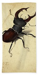 Stag Beetle Beach Towel