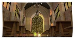 Stained Glass Window Church Beach Towel