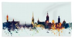 Stockholm Sweden Skyline Beach Towel