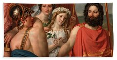 The Anger Of Achilles Beach Towel by Jacques Louis David