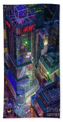 4 Times Square Beach Towel by Inge Johnsson