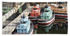 4 Toy Boats Beach Sheet